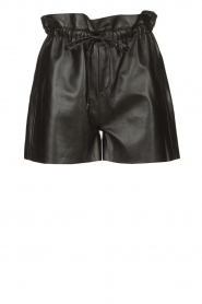 Dante 6 |  Leather shorts with drawstrings Palma | black  | Picture 1