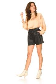 Dante 6 |  Leather shorts with drawstrings Palma | black  | Picture 3