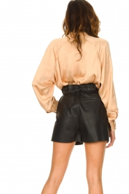 Dante 6 |  Leather shorts with drawstrings Palma | black  | Picture 6