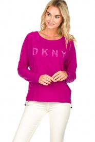 DKNY Sport |  Logo-printed sports top Hailee | pink  | Picture 2