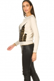 Nenette :  Printed sweater Mapple | natural - img7