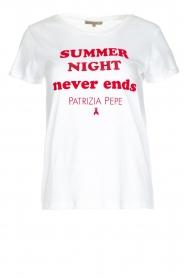 Patrizia Pepe | T-shirt Summer night | wit  | Afbeelding 1