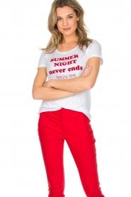 Patrizia Pepe | T-shirt Summer night | wit  | Afbeelding 2