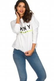 DKNY Sport |  Sweatshirt with logo print Yuw | white  | Picture 2