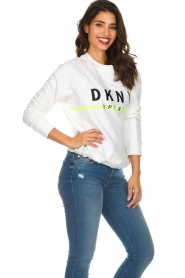 DKNY Sport |  Sweatshirt with logo print Yuw | white  | Picture 5