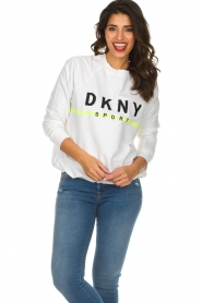 DKNY Sport |  Sweatshirt with logo print Yuw | white  | Picture 4