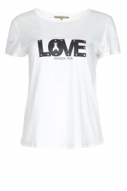 Patrizia Pepe | T-shirt Love | wit  | Afbeelding 1