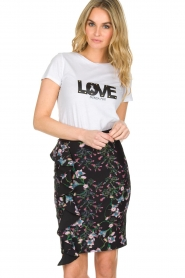Patrizia Pepe | T-shirt Love | wit  | Afbeelding 2
