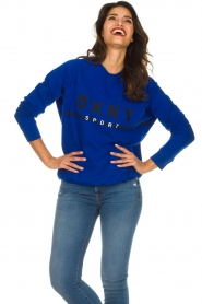 DKNY Sport |  Sweatshirt with logo print Yuw | blue  | Picture 3