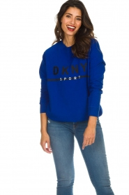 DKNY Sport |  Sweatshirt with logo print Yuw | blue  | Picture 2