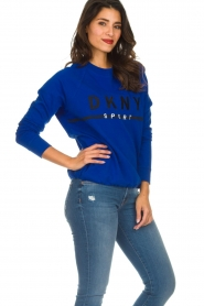 DKNY Sport |  Sweatshirt with logo print Yuw | blue  | Picture 5