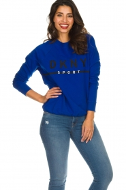 DKNY Sport |  Sweatshirt with logo print Yuw | blue  | Picture 4
