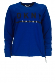 DKNY Sport |  Sweatshirt with logo print Yuw | blue  | Picture 1