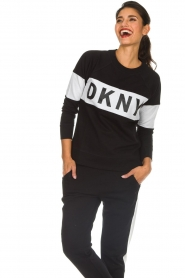 DKNY Sport |  Sweatshirt with brand logo Opey | black  | Picture 2