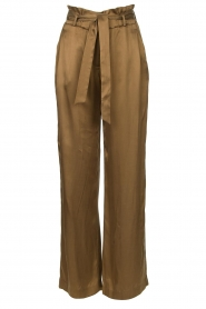 Dante 6 |  Trousers with tie waistbelt Garbo | green  | Picture 1
