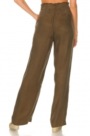 Dante 6    Trousers with tie waistbelt Garbo   green    Picture 6