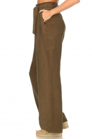 Dante 6    Trousers with tie waistbelt Garbo   green    Picture 5