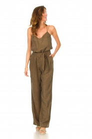 Dante 6    Trousers with tie waistbelt Garbo   green    Picture 3