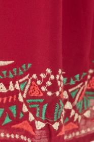 OndadeMar | Jurk Mandalay | rood  | Afbeelding 6