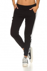 DKNY Sport |  Sweatpants with side stripe Jayde | black  | Picture 2