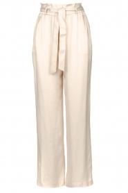 Dante 6 | Pantalon met strikceintuur Garbo | nude  | Afbeelding 1