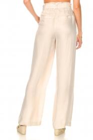 Dante 6 | Pantalon met strikceintuur Garbo | nude  | Afbeelding 6