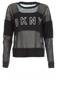 DKNY Sport |  Sports sweater with mesh details Ivey | black  | Picture 1