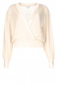 Dante 6 |  Top with wrap detail Valetta | natural  | Picture 1