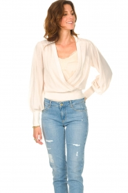 Dante 6 |  Top with wrap detail Valetta | natural  | Picture 5