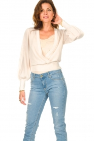Dante 6 |  Top with wrap detail Valetta | natural  | Picture 2