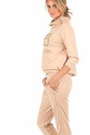 Patrizia Pepe | Sweatshirt Fila | nude  | Afbeelding 4