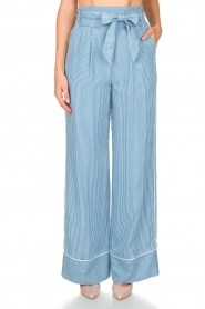 Patrizia Pepe |  Striped pants Will | blue  | Picture 2