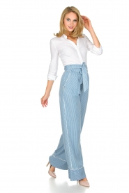 Patrizia Pepe |  Striped pants Will | blue  | Picture 3