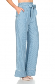 Patrizia Pepe |  Striped pants Will | blue  | Picture 4