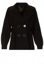 Nenette |  Wool coat Vinile | black  | Picture 1