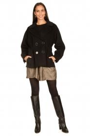 Nenette |  Wool coat Vinile | black  | Picture 3
