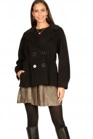 Nenette |  Wool coat Vinile | black  | Picture 2