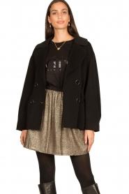Nenette |  Wool coat Vinile | black  | Picture 4