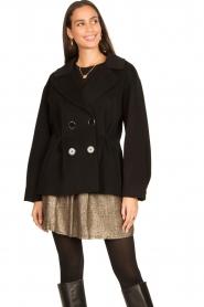 Nenette |  Wool coat Vinile | black  | Picture 5