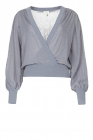 Dante 6 |  Top with wrap detail Valetta | blue  | Picture 1