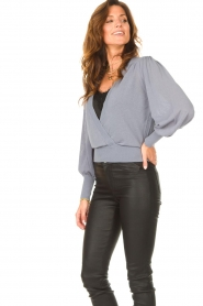 Dante 6 |  Top with wrap detail Valetta | blue  | Picture 7
