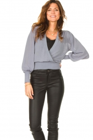 Dante 6 |  Top with wrap detail Valetta | blue  | Picture 2