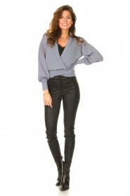 Dante 6 |  Top with wrap detail Valetta | blue  | Picture 3