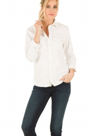 Denim blouse Classic Western | wit