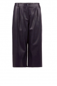 Patrizia Pepe | Cropped faux leren culottes Xavia | donkerblauw   | Afbeelding 1