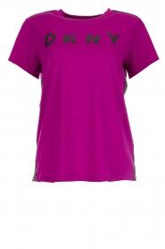 DKNY Sport | T-shirt met logoprint Merize | roze  | Afbeelding 1