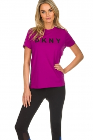 DKNY Sport |  Logo print T-shirt Merize | pink  | Picture 2