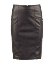 Faux leather pencil skirt Mendy | dark blue