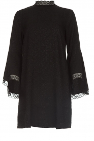 Rosemunde |  Dress with lace Toulon | black  | Picture 1