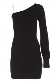 Patrizia Pepe | One sleeve jurk Mea | zwart  | Afbeelding 1